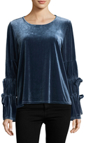 Lucca Couture Elizabeth Drawstring Sleeves Top