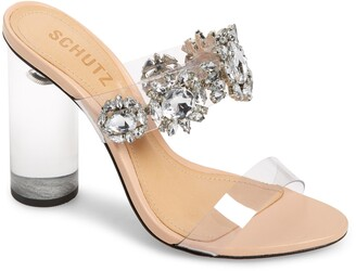 Schutz Blanck Clear Slide Sandal