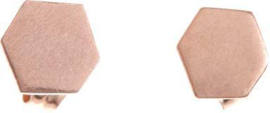 Wendy Nichol Rose Gold Large Hexagon Stud Earrings-Colorless