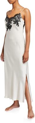 Natori L'Amour Lace-Trim Nightgown