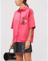 Maje Oversized satin shirt