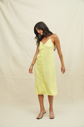 Back Beat Co. Button-Front Slip Dress