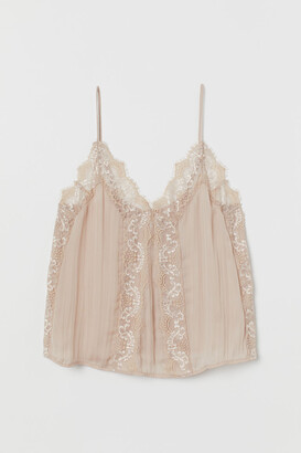 H&M Camisole Top with Lace - Orange