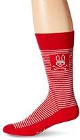 Psycho Bunny Men's Thin Stripe Crew Sock