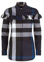 Burberry Check Cotton Frill Detail Shirt