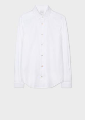 Paul Smith Men's Super Slim-Fit White Cotton-Twill Shirt