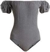 Lisa Marie Fernandez Leandra gingham seersucker swimsuit