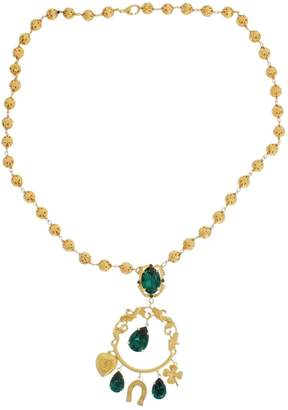 Dolce & Gabbana Green Crystal Necklaces