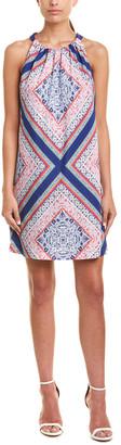 Trina Turk Rancho Silk-Trim Shift Dress