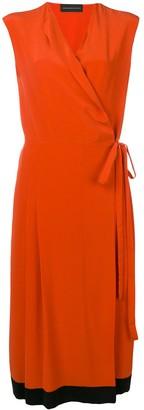 Cashmere In Love crepe envelope wrap dress