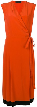 Cashmere In Love Crepe Envelope Wrap Dress