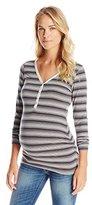 Ripe Maternity Women's Maternity and Nursing Long Sleeve V-Neck Henley Shirt