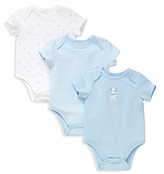Little Me Boys' Puppies Bodysuit, 3 Pack - Baby
