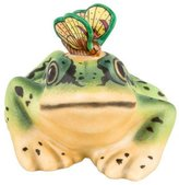 Herend Frog with Butterfly Figurine