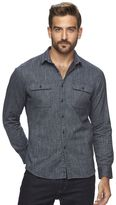 Marc Anthony Men's Slim-Fit Marled Soft-Touch Flannel Button-Down Shirt