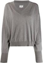 Maison Margiela v-neck boxy sweatshirt