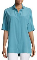Lafayette 148 New York Andra Short-Sleeve Silk Blouse