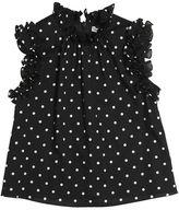Dolce & Gabbana Polka Dots Print Cotton Poplin Top