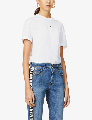 Stella McCartney Star-embroidered cotton-jersey T-shirt