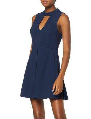 BCBGeneration Women's Mock Neck Fit & Flare Dress