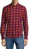 Scotch & Soda Button-Down Cotton Check Shirt