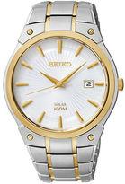 Seiko Two-Tone Solar Stainless Steel Bracelet Watch