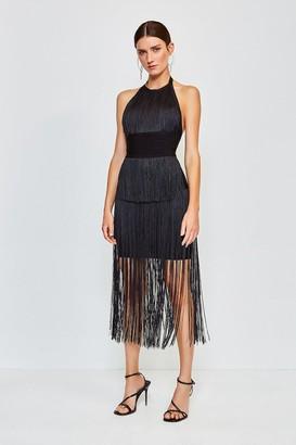 Karen Millen Fringe Bandage Knit Dress
