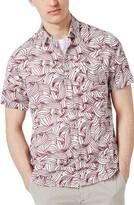 Topman Men's Wave Print Shirt