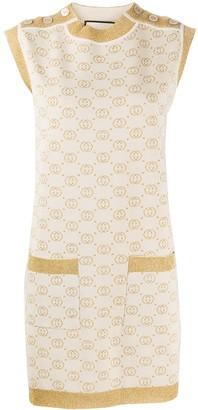 Gucci GG Supreme sleeveless knitted dress