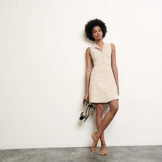 Sandro Short knitted dress with tailored collar