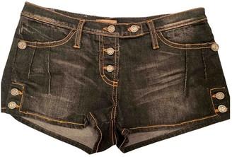 Galliano Black Denim - Jeans Shorts for Women