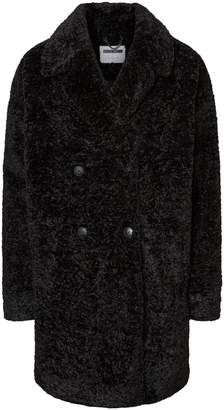 Noisy May Caleb Double-Breasted Faux Fur Teddy Jacket