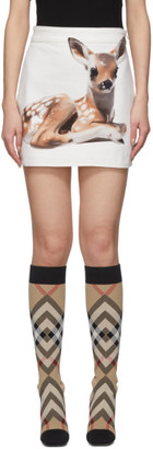 Burberry White Bambi Skirt