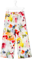 Simonetta watercolour trousers - kids - Polyester - 12 yrs