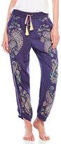 Juicy Couture Paisley Tassel Pajama Pants