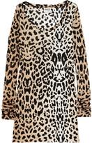 Renaissance leopard-print jersey top