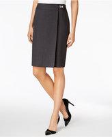 Calvin Klein Faux-Wrap Pencil Skirt