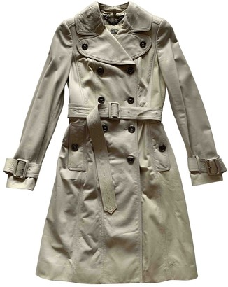 Burberry Grey Leather Trench Coat for Women