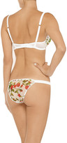 Mimi Holliday Floral-print chiffon briefs