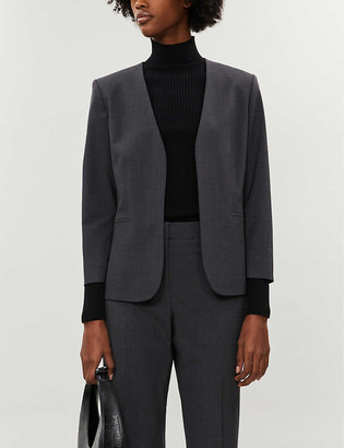 Theory Lindrayia cropped stretch-wool jacket