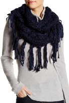 Collection XIIX Solid Fringed Yarn Triangle Scarf