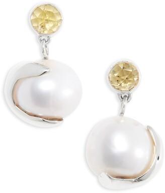 FARIS Pomme Pearl Drop Earrings