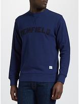 Penfield Brookport Chenille Applique Crew Neck Sweatshirt, Blueprint