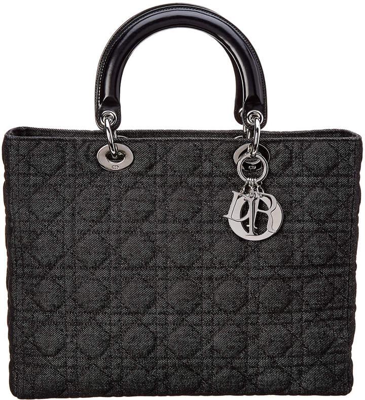 Christian Dior Limited Edition Black Denim Large Lady