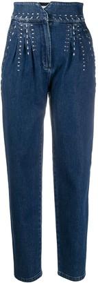 Alberta Ferretti Crystal Detail Jeans