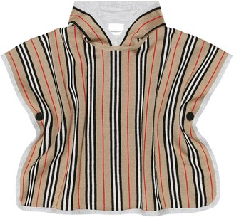 BURBERRY KIDS Reversible merino wool poncho