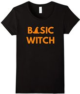 Women's Basic Witch - Funny Halloween Shirt Large