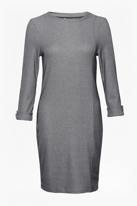 French Connection Sario Ribbed Jersey Round Neck Dress