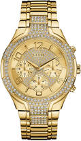 GUESS Women's Crystal Accent Gold-Tone Stainless Steel Bracelet Watch 44mm U0628L2