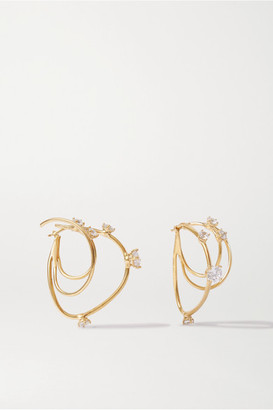 Panconesi Constellation Gold-plated Crystal Earrings - one size